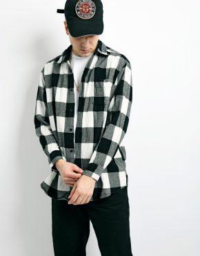 Vintage flannel plaid shirt