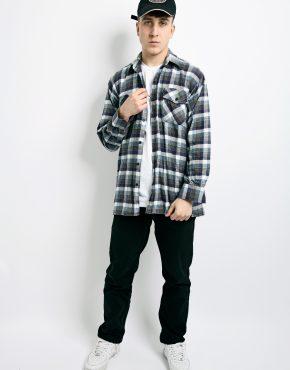 Retro flannel plaid shirt