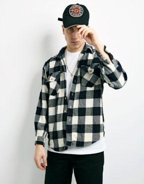 flannel plaid padded shirt