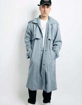 grey detective trench coat