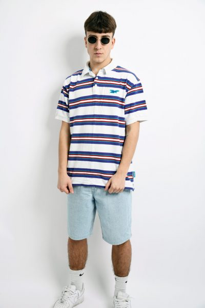 90s REEBOK striped shirt
