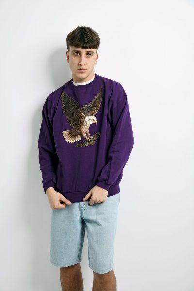 Vintage purple sweatshirt printed