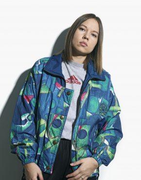 Retro women windbreaker jacket