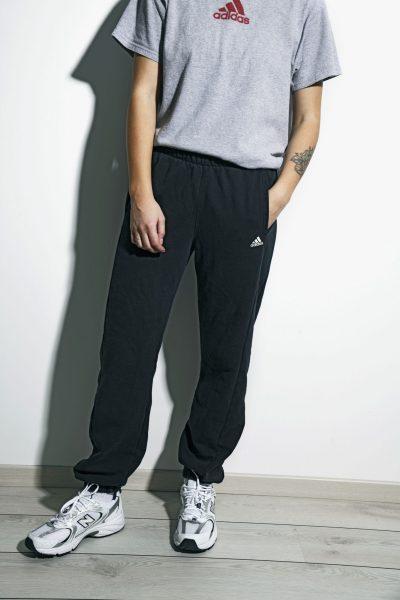 Adidas sweatpants black vintage