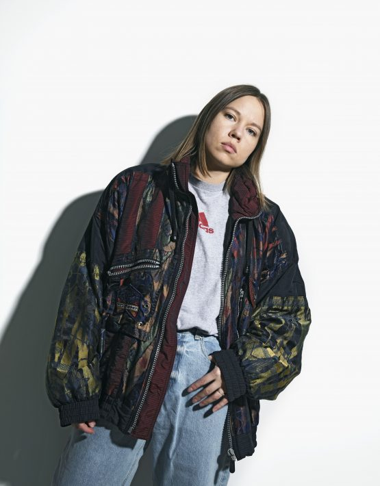 Retro abstract jacket women