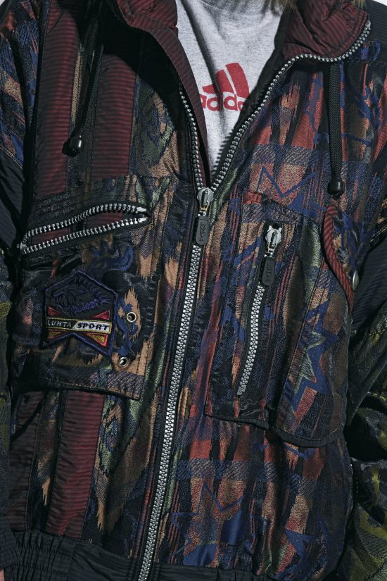 Retro 80s abstract jacket women
