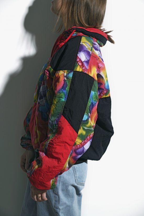 90s vintage retro ski jacket multi