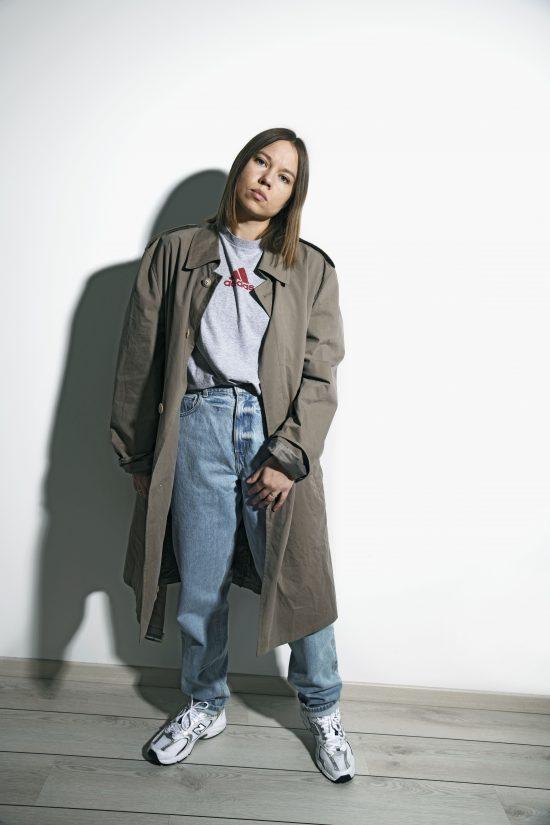 Classic vintage trench coat