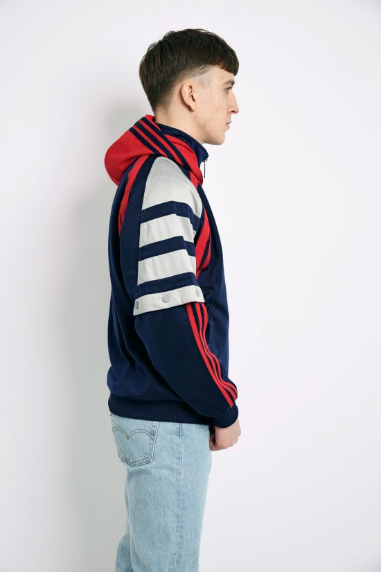 ADIDAS retro track jacket blue red