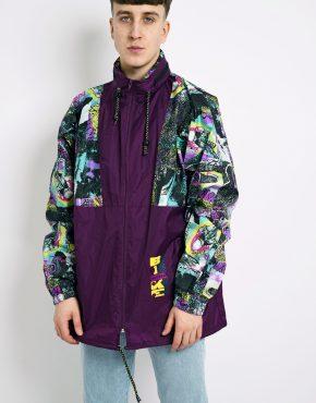 retro windbreaker jacket multi