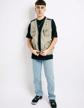 Vintage cargo vest khaki