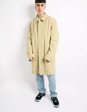 retro mac coat beige