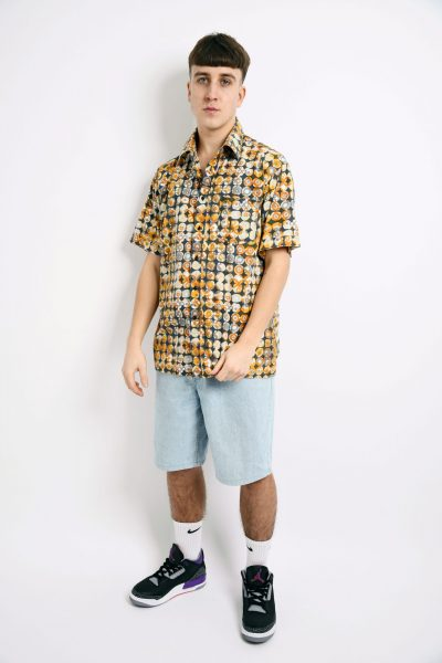 60s style multi shirt