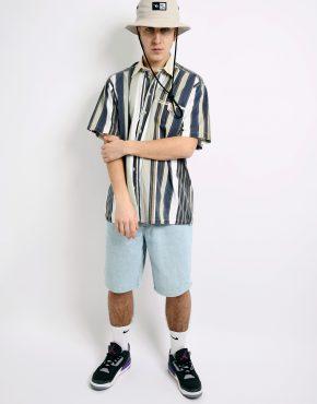 Vintage summer striped shirt
