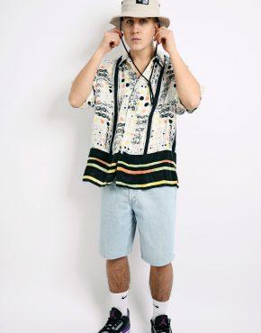 90s pattern printed shirt