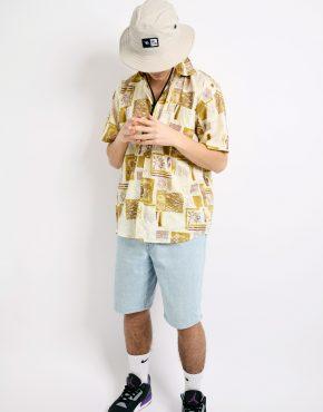 Retro summer yellow shirt