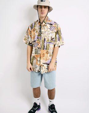 summer abstract shirt men