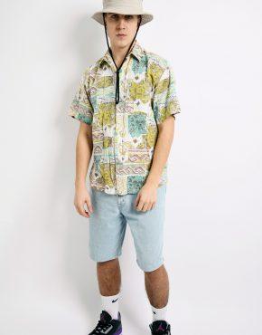 shirt 90s pattern pastel