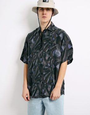 90s abstract patterned shirt