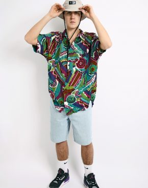 Vintage colourful abstract shirt