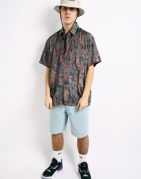abstract pattern 80s shirt