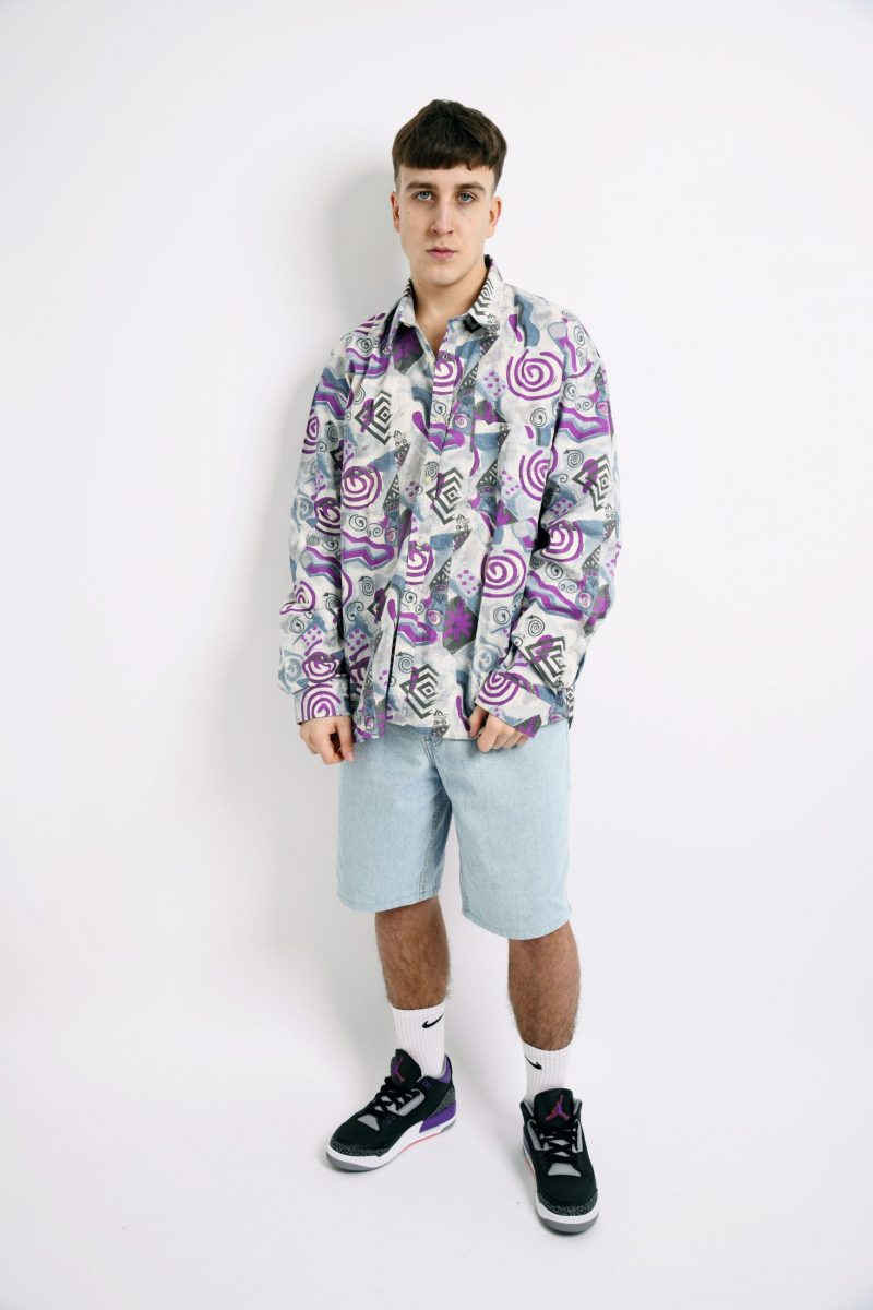 abstract patterned 90s shirt