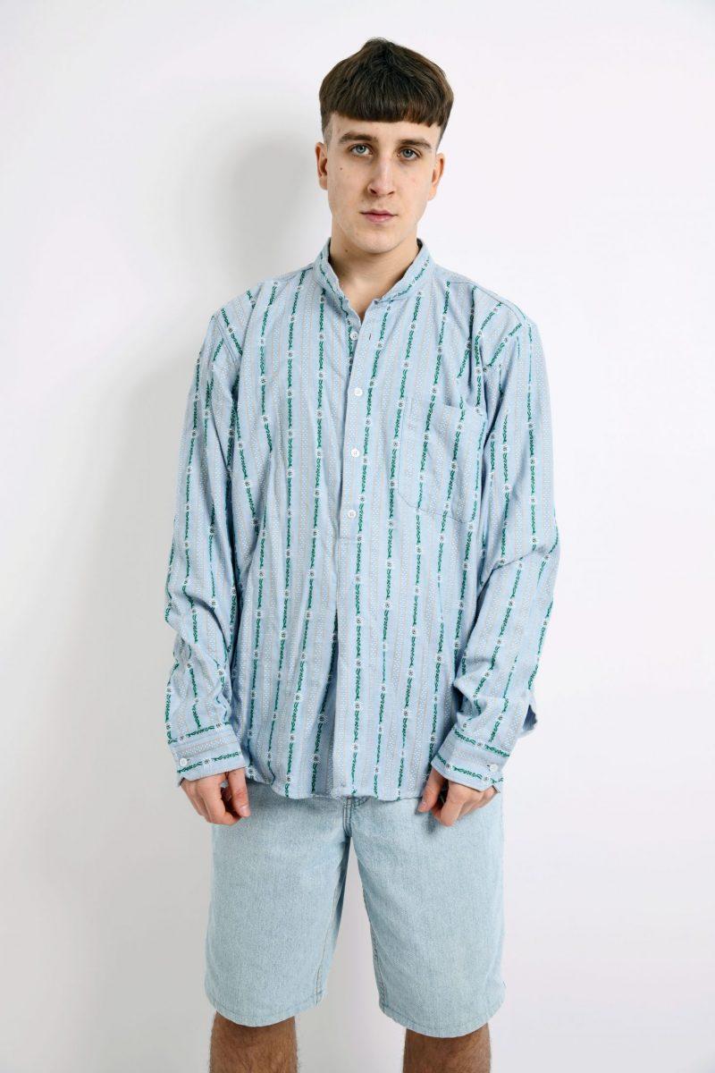 Vintage Mandarin pullover shirt