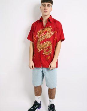 vintage dragon red shirt