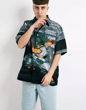 vintage Japanese Samurai shirt