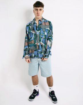 patterned long sleeve shirt