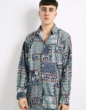 80s floral patterned shirt