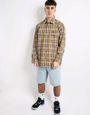 WRANGLER plaid western shirt