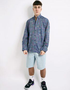 90s patterned shirt mens