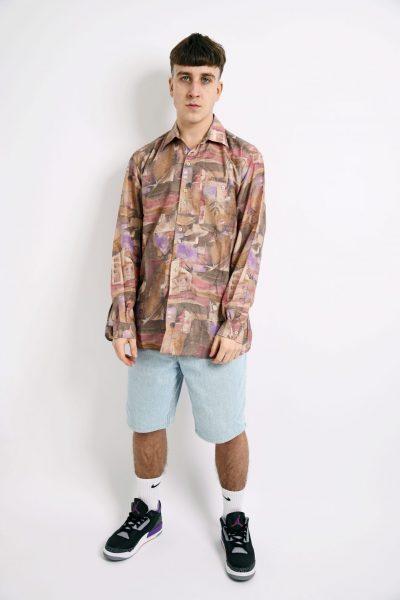 Vintage patterned shirt long