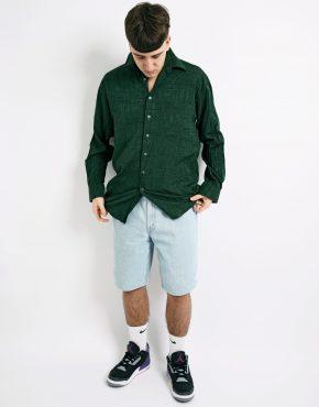 Retro solid green shirt