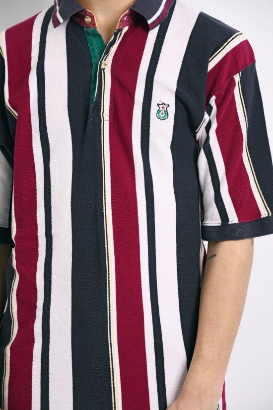 90s striped vintage polo shirt men