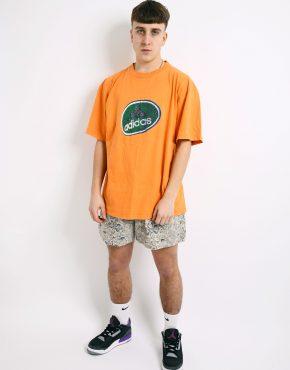 ADIDAS orange vintage t-shirt