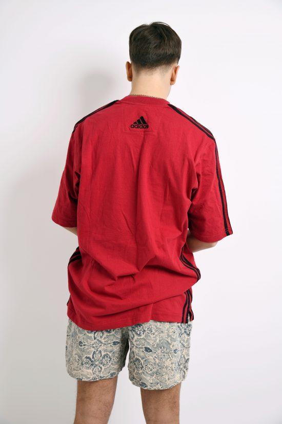 ADIDAS 90s red t-shirt men's
