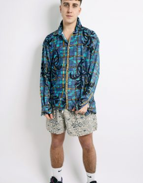 90s aztec pattern shirt