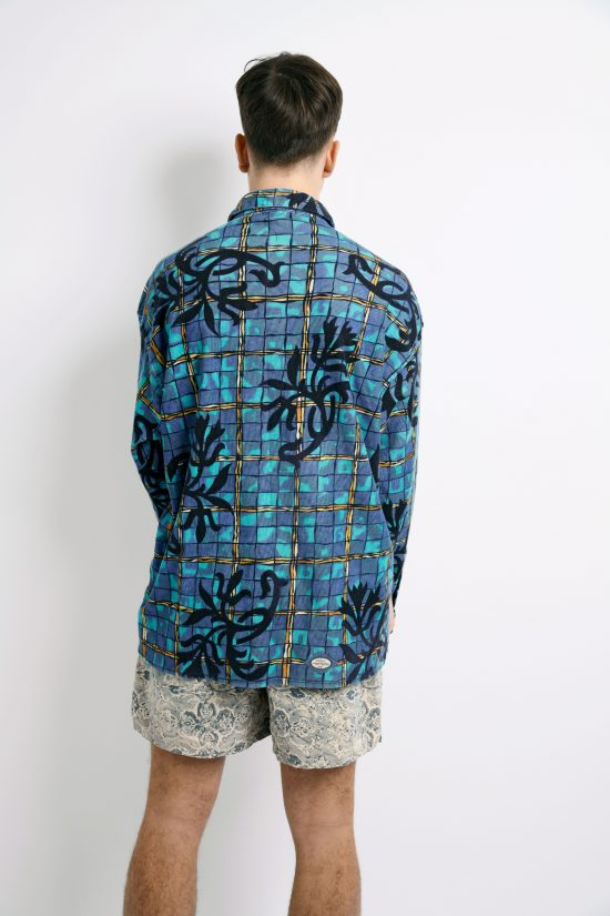 90s aztec pattern long sleeve shirt