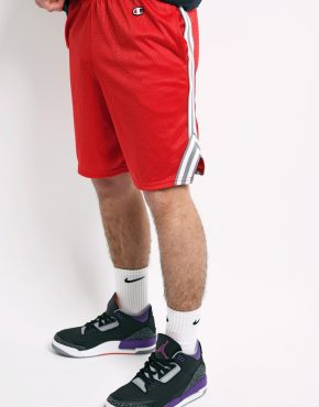 CHAMPION red basketball shorts