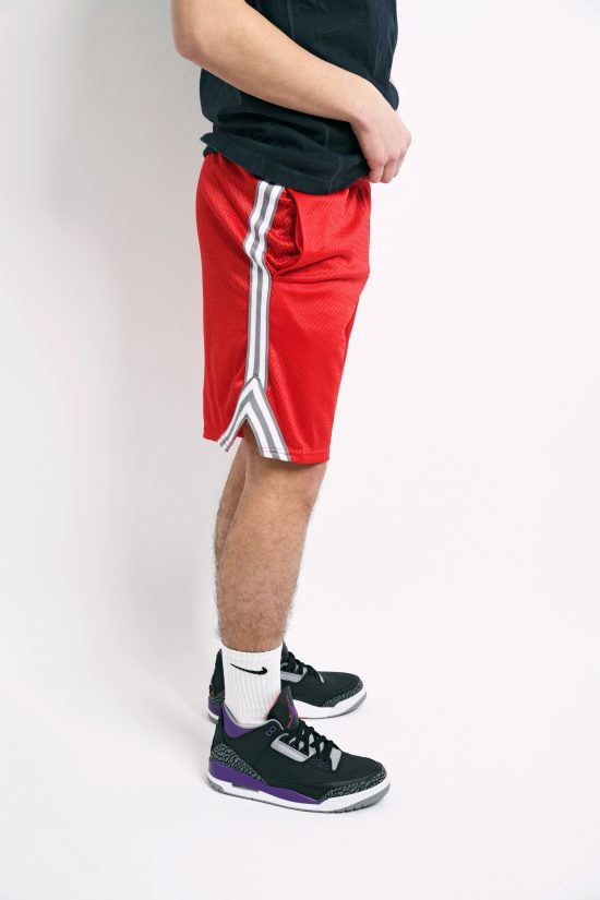 CHAMPION red basketball shorts