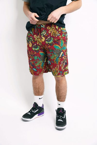 90s floral summer shorts