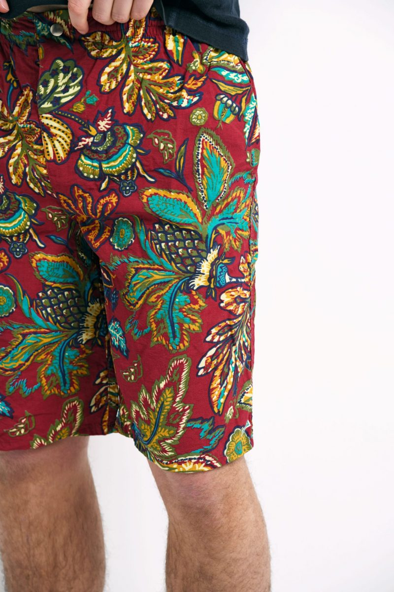 90s floral summer shorts multi