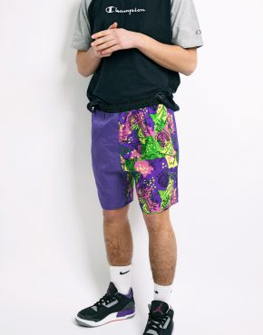 90s abstract summer shorts