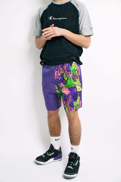 90s abstract summer shorts
