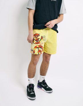 Vintage summer shorts yellow