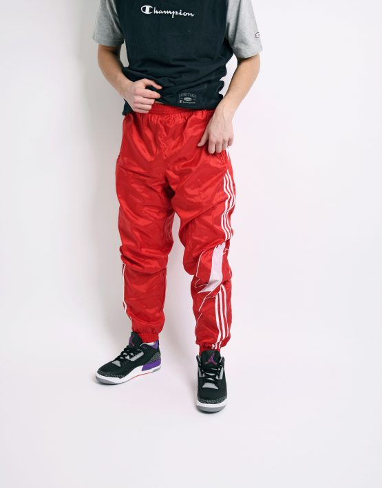 Retro pants red white