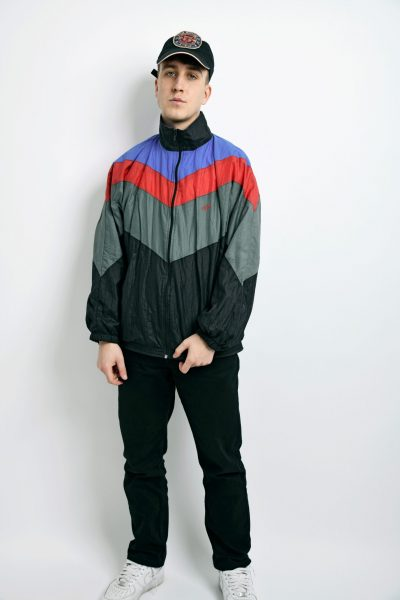 vintage multi jacket black