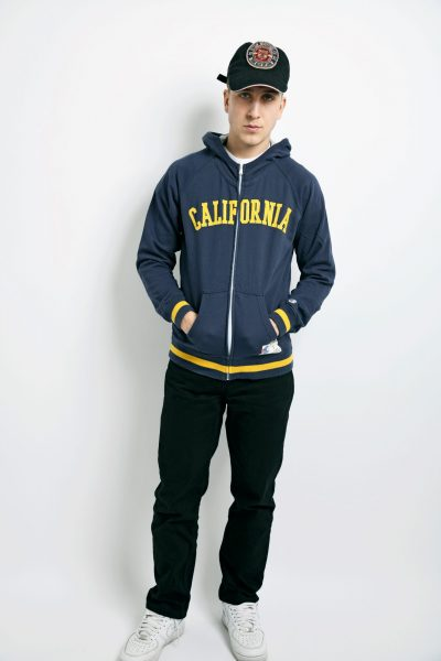CHAMPION 90s hoodie blue